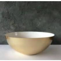 Salad Bowl White/Gold